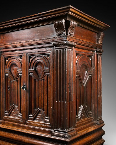 Furniture  - A Renaissance palace wardrobe with perspectival views