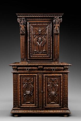 Rare carved Renaissance cabinet - Furniture Style Renaissance