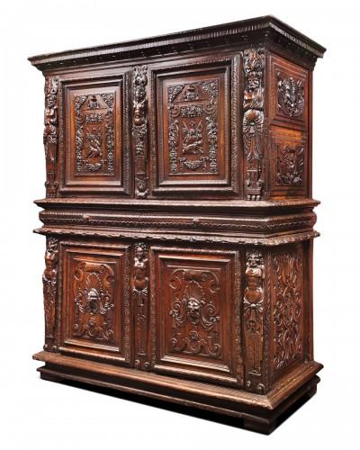 """French Renaissance """"meuble à deux corps"""""""