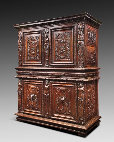 "Furniture  - French Renaissance ""meuble à deux corps"""