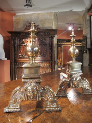 Pair of Henri II of the Renaissance period - Decorative Objects Style Renaissance