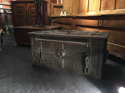 German armada chest of the 17th century -