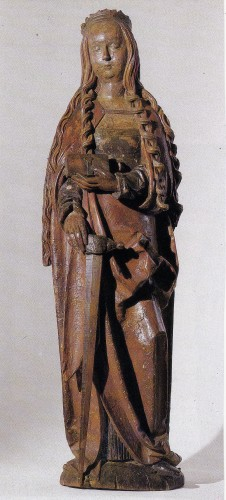 Saint Catherine of Alexandria - Sculpture Style