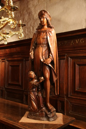 Wood figure of Saint Roch -