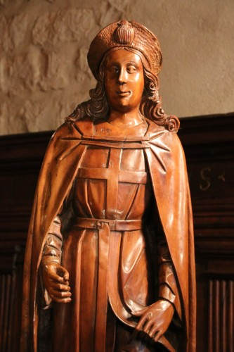16th century - Wood figure of Saint Roch