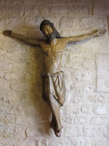 Catalan Christ on the cross - Religious Antiques Style Middle age