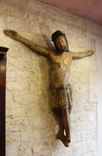 Sculpture Sculpture en Bois - Important Christ en croix Catalan