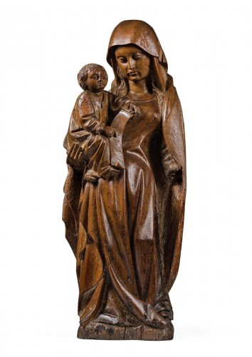 Gothic Virgin and Child with a phylactery