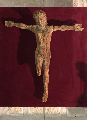 Rare 13th century Christ on the cross - Religious Antiques Style Middle age