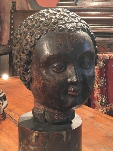 Renaissance head of a child - Sculpture Style Renaissance