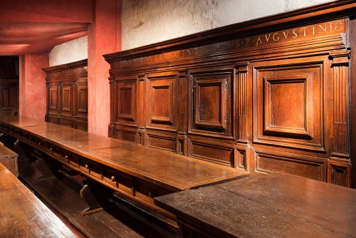 A North Italian Renaissance carved walnut refectory -