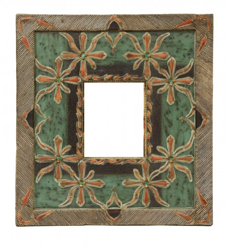 """Mirror with frame in """"Talosel"""" workshop of Line Vautrin, by one student"""