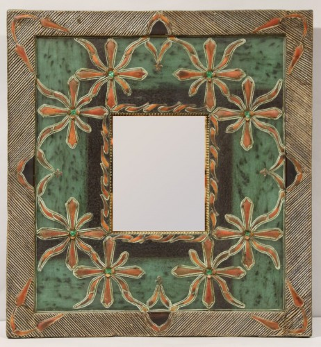 "Mirror with frame in ""Talosel"" workshop of Line Vautrin, by one student - Mirrors, Trumeau Style"