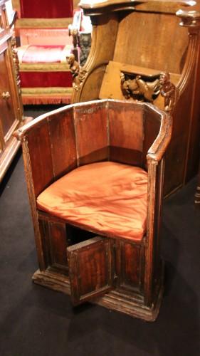 "Rare ""Sedile a Pozzetto"" seat - Renaissance"