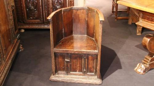 """Antiquités - Rare """"Sedile a Pozzetto"""" seat"""
