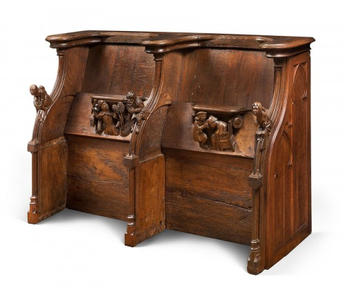 Set of Gothic stalls with historiated misericords