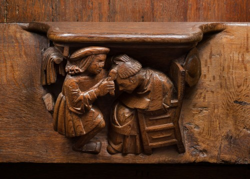 Set of Gothic stalls with historiated misericords - Middle age