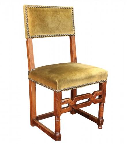 Rare set of six Henri IV chairs