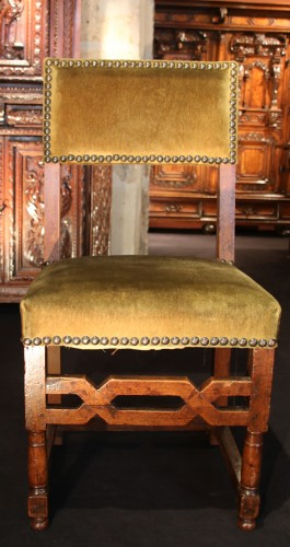 Rare set of six Henri IV chairs -