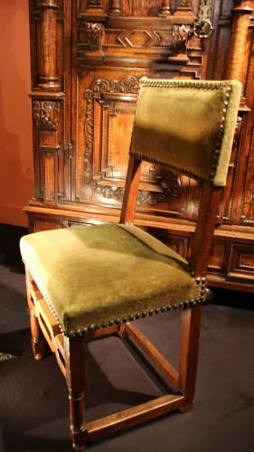 16th century - Rare set of six Henri IV chairs