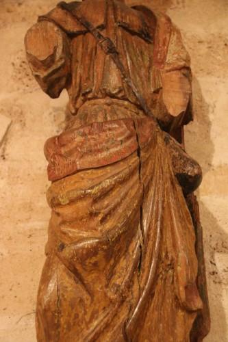 Sculpture  - Carved wood representing Saint James dressed as Compostela pilgrim