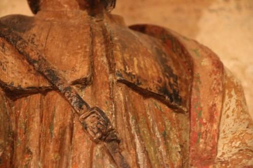 Antiquités - Carved wood representing Saint James dressed as Compostela pilgrim