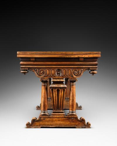 "Furniture  - French Second Renaissance table said ""à l'italienne"""