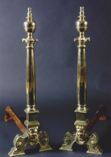 Rare pair of firedogs - Decorative Objects Style Renaissance