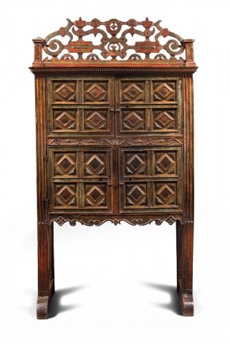 Rare Spanish polychrome cabinet