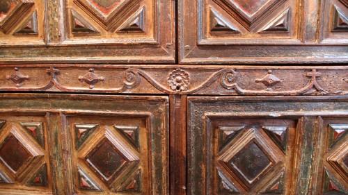 Rare Spanish polychrome cabinet -