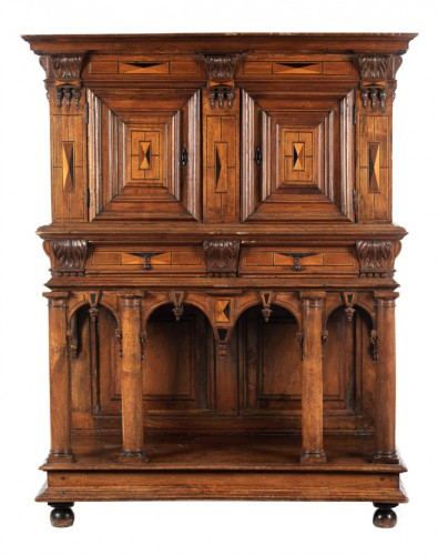 French Second Renaissance walnut dresser -