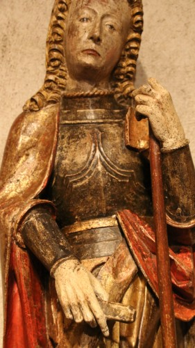 16th century - Carved polychrome wood depicting Saint Florian