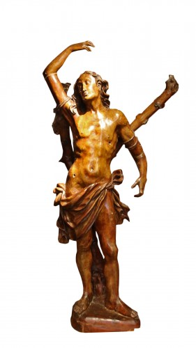 Carved wood Saint Sebastian