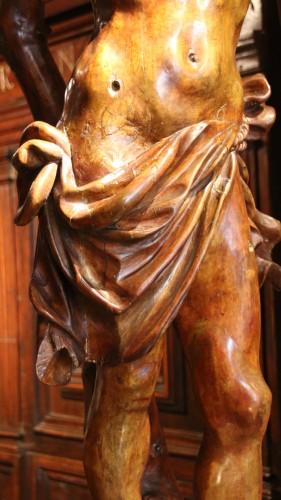 Renaissance - Carved wood Saint Sebastian