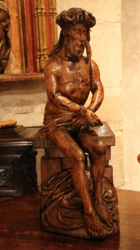 Pensive Christ - Religious Antiques Style Middle age