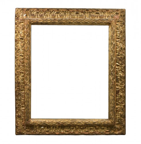 Large carved and gilt wood frame