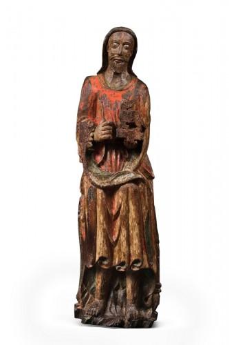 Wood sculpture of John the Baptist