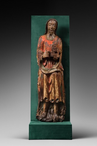Wood sculpture of John the Baptist - Sculpture Style