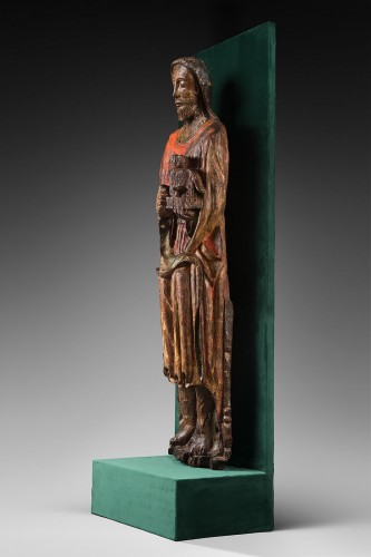 Wood sculpture of John the Baptist -