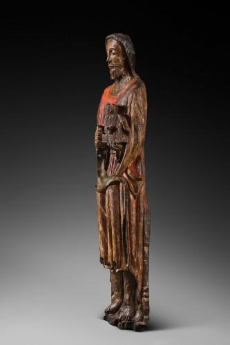 <= 16th century - Wood sculpture of John the Baptist