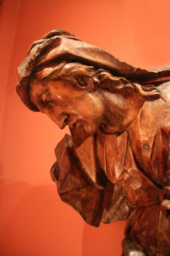 Gothic sculpture depicting a Holy Woman -