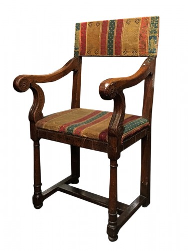A Henri II Chair with its original seat cover