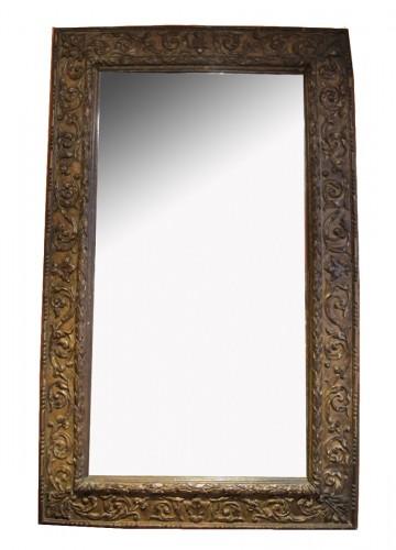 Gilded wood Italian mirror