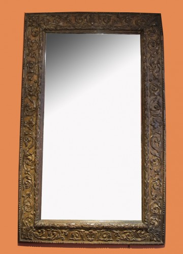 Gilded wood Italian mirror - Mirrors, Trumeau Style