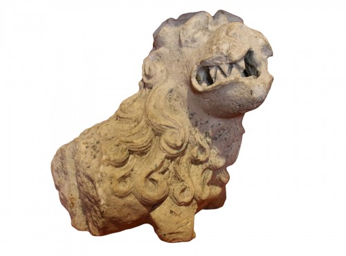 Carved stone lion