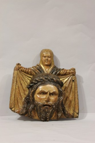 <= 16th century - Wooden bas-relief of Saint Veronica