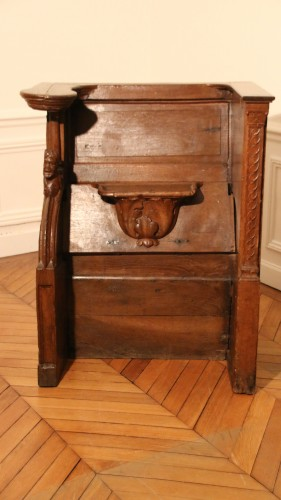 Late Gohtic carved church stall - Seating Style Middle age