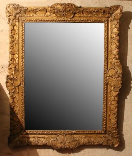 French Regence gilt wood frame - Mirrors, Trumeau Style French Regence
