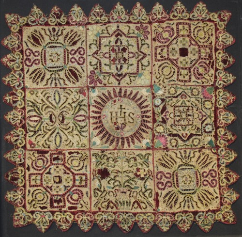 Punto Tagliato chalice veil - Religious Antiques Style Renaissance