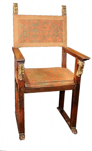 Large armchair with plumage